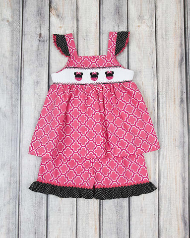 Smocked Mouse Ears Tank Short Set - Girls - Stellybelly - 1