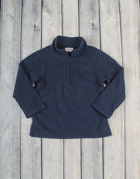 Navy Fleece Half-Zip - Unisex - Stellybelly - 1
