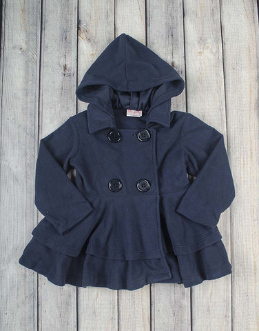 Navy Fleece Peacoat - Girls - Stellybelly