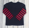 Navy/Red Stripe LS T-Shirt - Boys - Stellybelly - 1