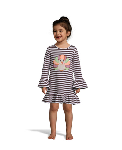 Turkey Applique LS Dress