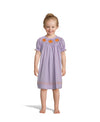 Smocked Light Purple Micro Gingham Bishop
