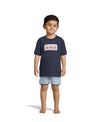 Smocked Pumpkin T-Shirt Set (Navy & Light Blue Gingham)