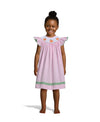 Smocked Pumpkin Pink Gingham Bishop