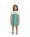 Embroidered Green Plaid Pumpkin Dress