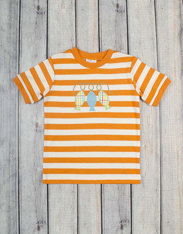 Orange Striped Fish T-Shirt - Boys - Stellybelly - 1
