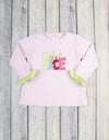 Peace Applique Girls LS Ruffle T-Shirt - Girls - Stellybelly - 1