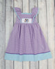 Smocked Purple Peacock Peasant Dress - Girls - Stellybelly - 1