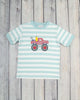 Aqua Pencil Truck Applique T-Shirt - Boys - Stellybelly - 1