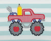 Aqua Pencil Truck Applique T-Shirt - Boys - Stellybelly - 3