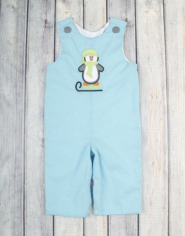 Penguin Sled Applique Longall - Boys - Stellybelly - 1