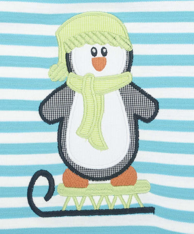 Penguin Sled Applique LS T-Shirt - Boys - Stellybelly - 5