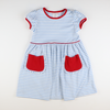 Out & About Knit Pocket Dress - Patriotic Stripe