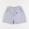 Seaside Seersucker Bow Shorts - Blue Stripe