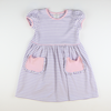 Out & About Knit Pocket Dress - Lavender Stripe