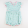 Out & About Knit Bubble - Mint Stripe