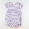 Out & About Knit Bubble - Lavender Stripe