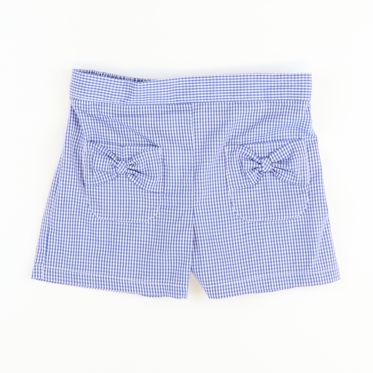 Girl Pocket Shorts - Royal Check