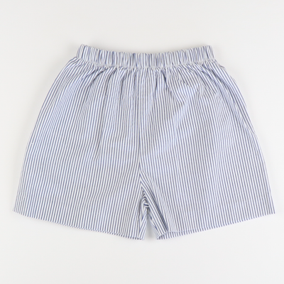 Signature Shorts - Blue Stripe Seersucker - Stellybelly