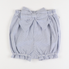 Seaside Seersucker Bow Shorties - Blue Stripe