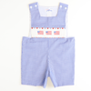 Smocked Americana Shortall - Royal Check