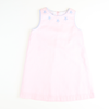 Embroidered Star Fish Dress - Light Pink Pique