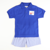 Smocked Nautical Boy Short Set - Royal Check Seersucker