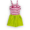 Hot Pink Stripe/Lime Emrie Romper