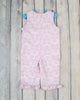 Smocked Pink Damask Princess Ruffle Romper - Girls - Stellybelly - 2