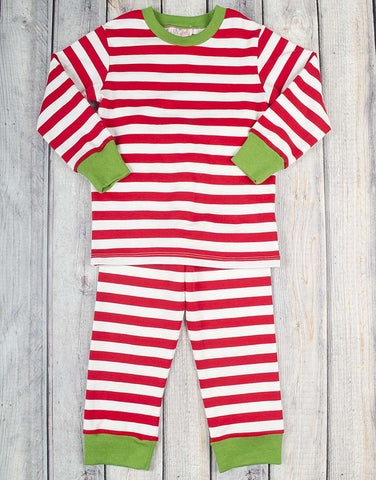 Unisex Red/White Stripe Loungewear - Unisex - Stellybelly - 1