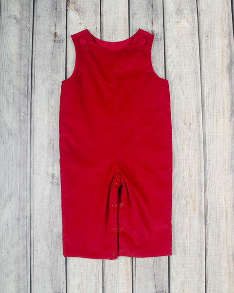Red Corduroy Basic Longall - Boys - Stellybelly - 1