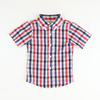 Patriotic Check Short Sleeve Button Down Shirt