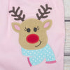 Jolly Reindeer App Ruffle Romper - Girls - Stellybelly - 3