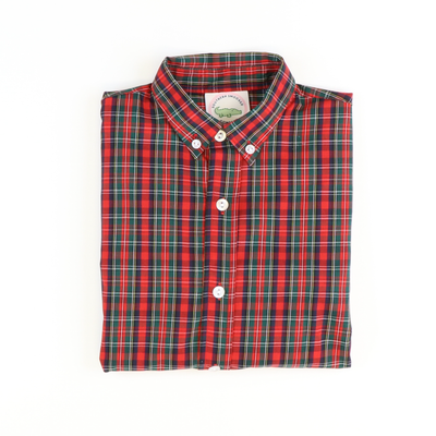Classic Button Down Shirt - Christmas Plaid