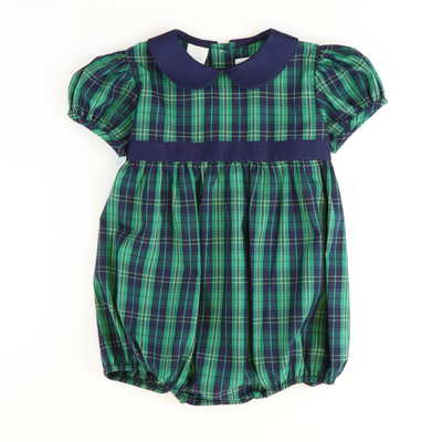 Kensington Plaid Collared Girl Bubble