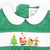 Smocked Santa's Workshop Collared Dress - Green Corduroy
