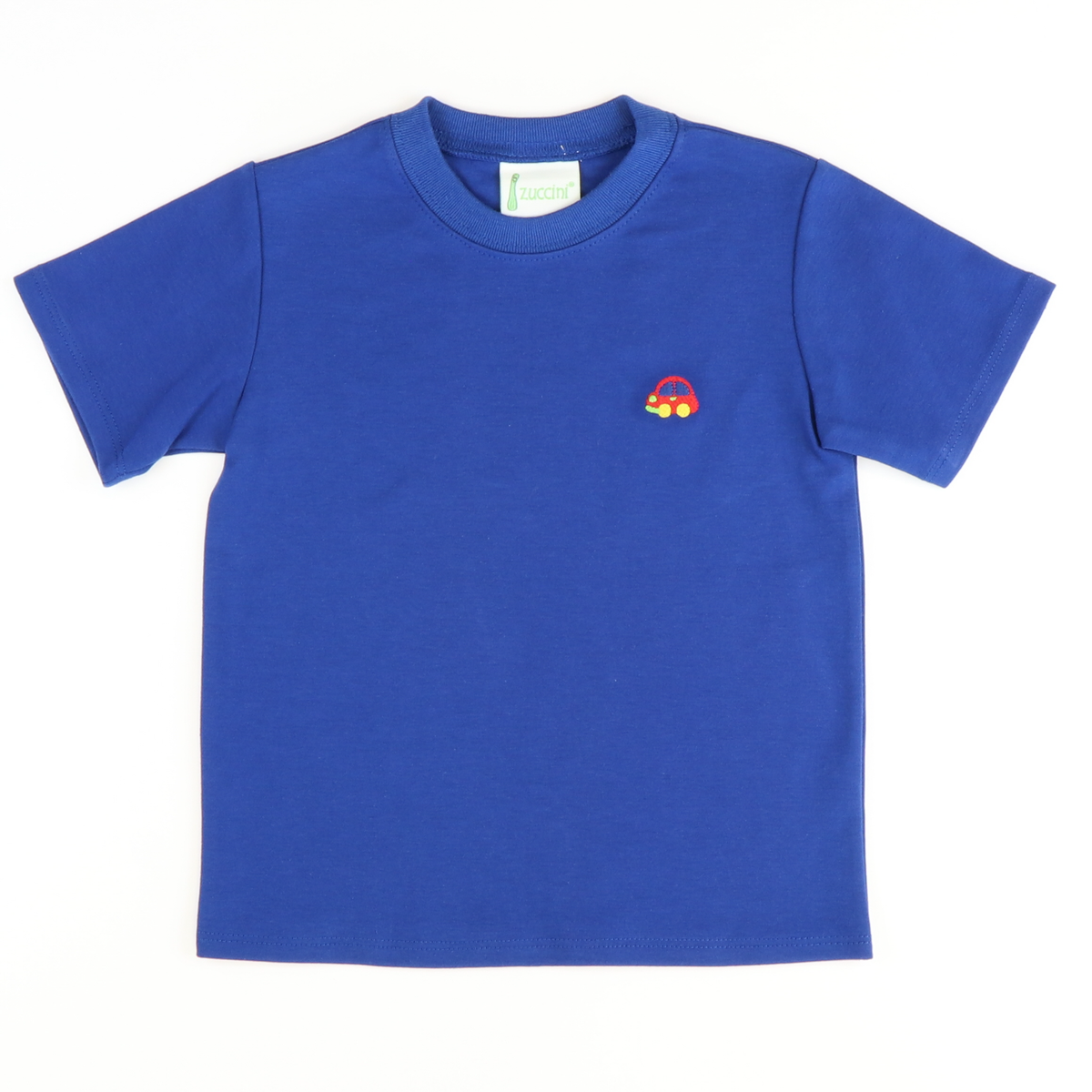Embroidered Car T-Shirt - Royal Blue Knit