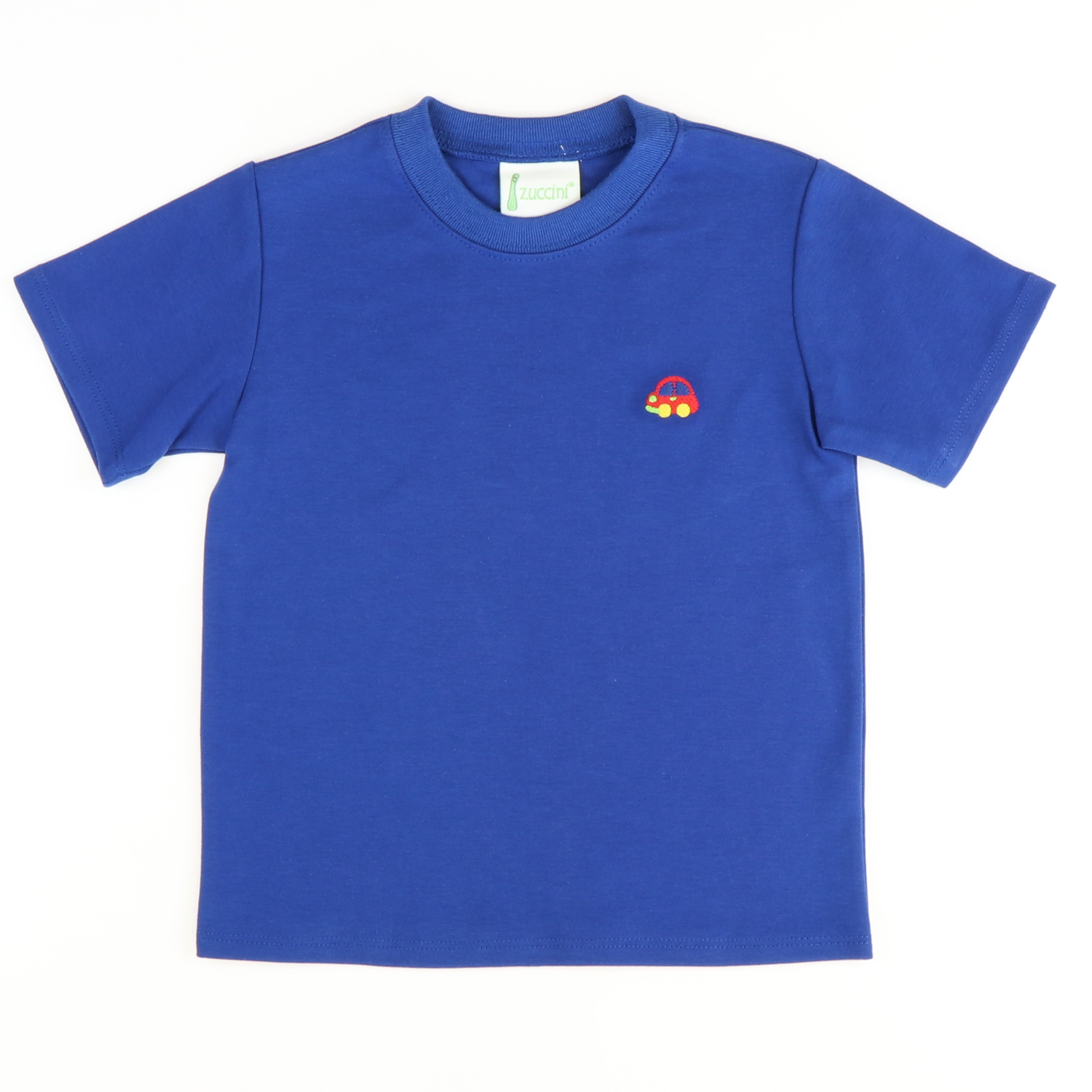 Embroidered Car T-Shirt - Royal Blue Knit - Stellybelly