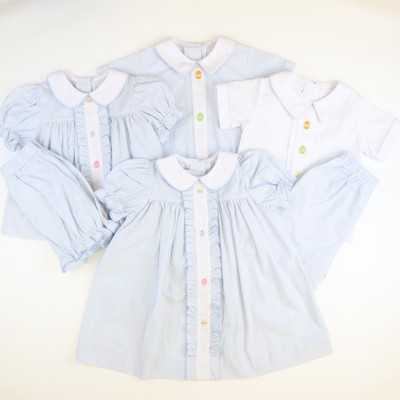 Embroidered Easter Eggs Top & Bloomer Set