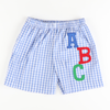 Appliquéd ABC Shorts
