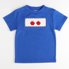 Smocked Apples T-Shirt - Royal Blue