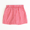 Signature Shorts - Red Gingham