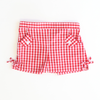 Red Gingham Bow Shorts