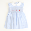 Smocked Apples Collared Dress