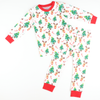 Reindeers & Christmas Trees White Pajama Set