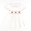 Smocked Poinsettia Dress