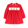 Smocked Christmas Tree Dress
