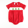 Smocked Christmas Tree Boy Bubble
