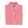 Red Gingham Long Sleeve Button Down Shirt