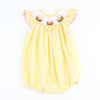 Smocked Easter Basket Girl Bubble - Yellow Stripe